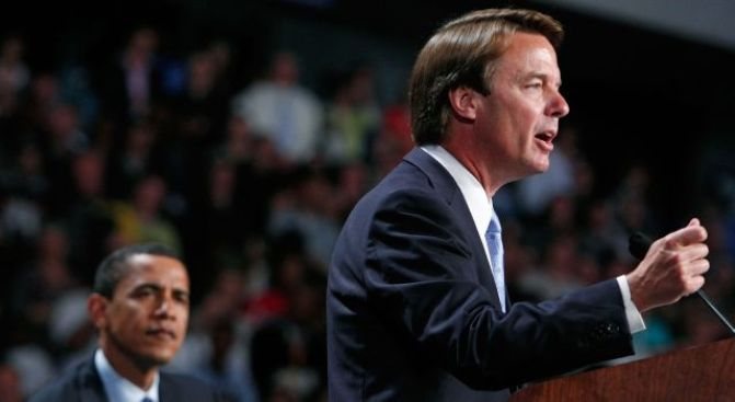 John Edwards Talks, But Not About Her
