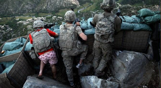Soldier Battles Taliban in Pink Undies