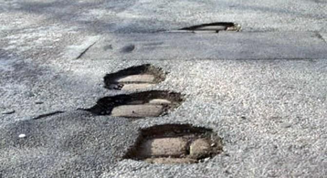 Potholes Follow Heavy Rain