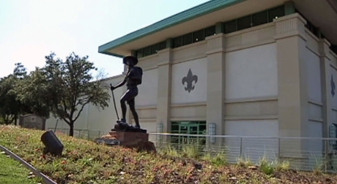 Quake Damages Irving Scouting Museum