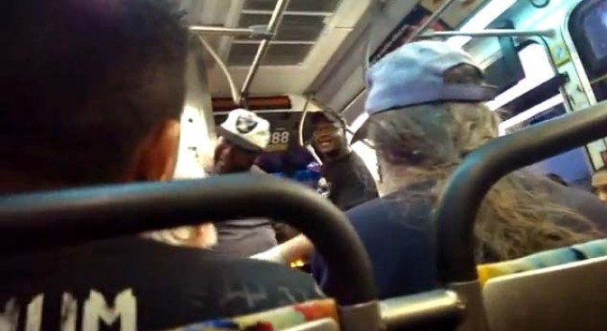 Caught on Video: Commuter Terrorizes Senior on LA Bus