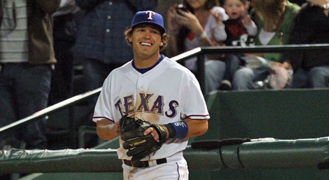 Kinsler Goes Yard, Joins 30-30 Club