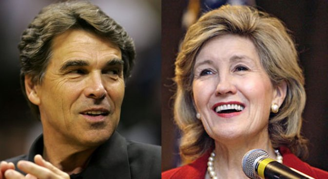 "Perry, Hutchison Duke It Out Over ""Recession"" Comment"