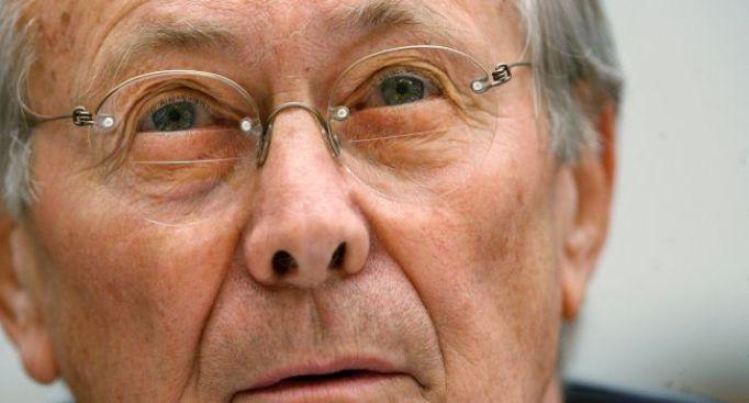 Report: Rev. Rumsfeld Urged on Bush's 'Holy War'