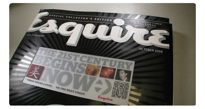 Up Close and Personal With the Esquire e-Ink Cover (Video)