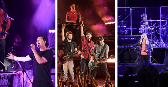 [NATL-la gallery] Linkin Park Bandmates, Other Rock Stars Celebrate the Life of Chester Bennington at Hollywood Bowl