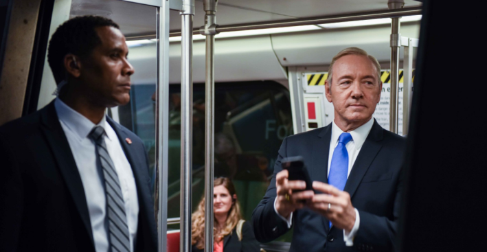 Spacey Promotes 'House of Cards' as Frank Underwood in DC