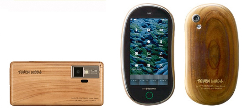 """Touch Wood""? Awkward Eco Phones from Japan"