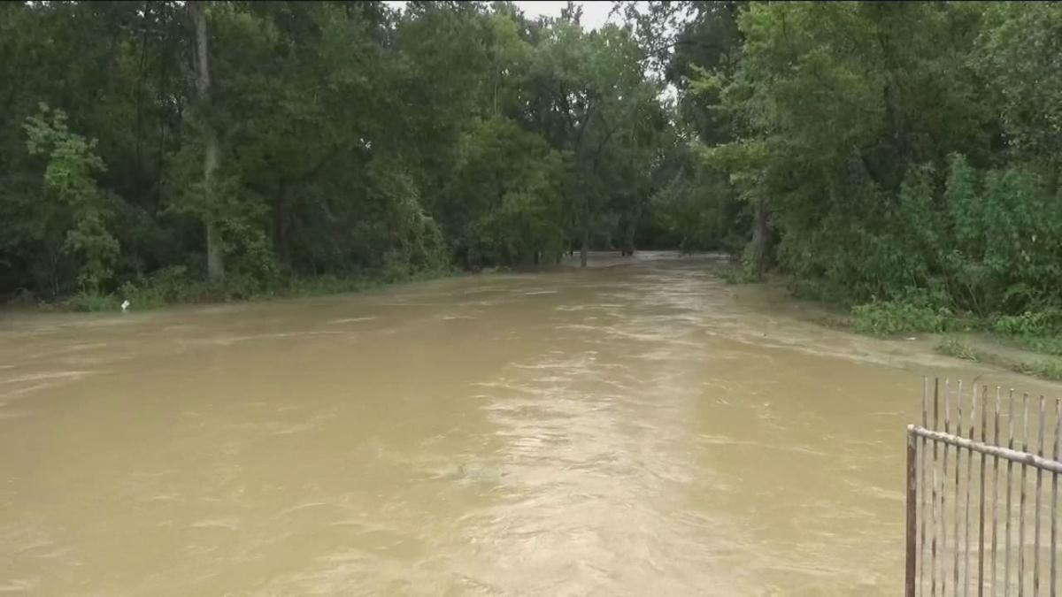 Creek Flooding in Katy, Texas