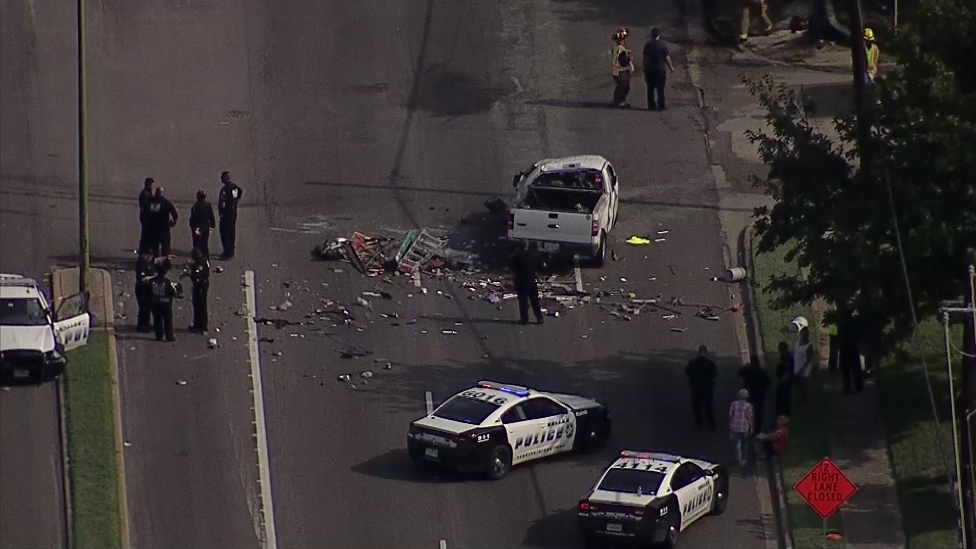 2 Officers Among 7 Hurt in Multi-Vehicle Crash in Dallas