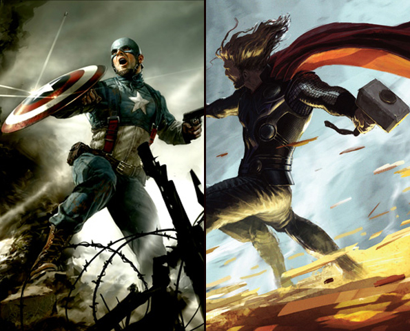 "New ""Thor and ""Captain America"" Banners Renew Hope for Awesomeness"