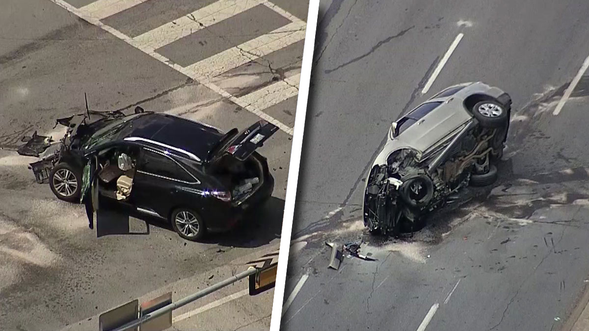 Car Involved in Crash in Dallas After Possible Bank Robbery