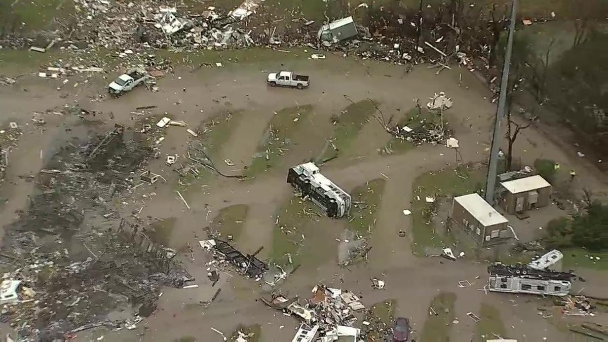 Raw Video Storm Damage At Plantation Place Rv Park