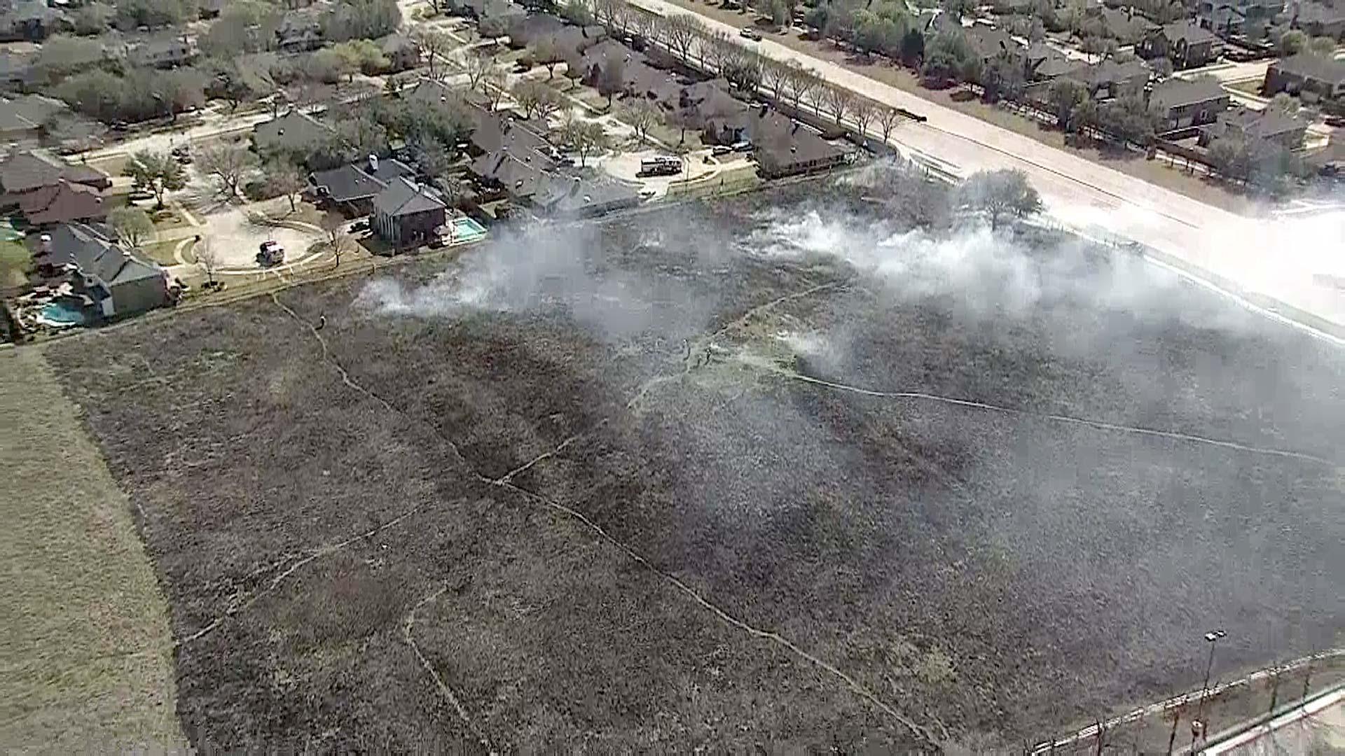 Flower Mound Orders Controlled Burn of Namesake Flower Mound Dallas news