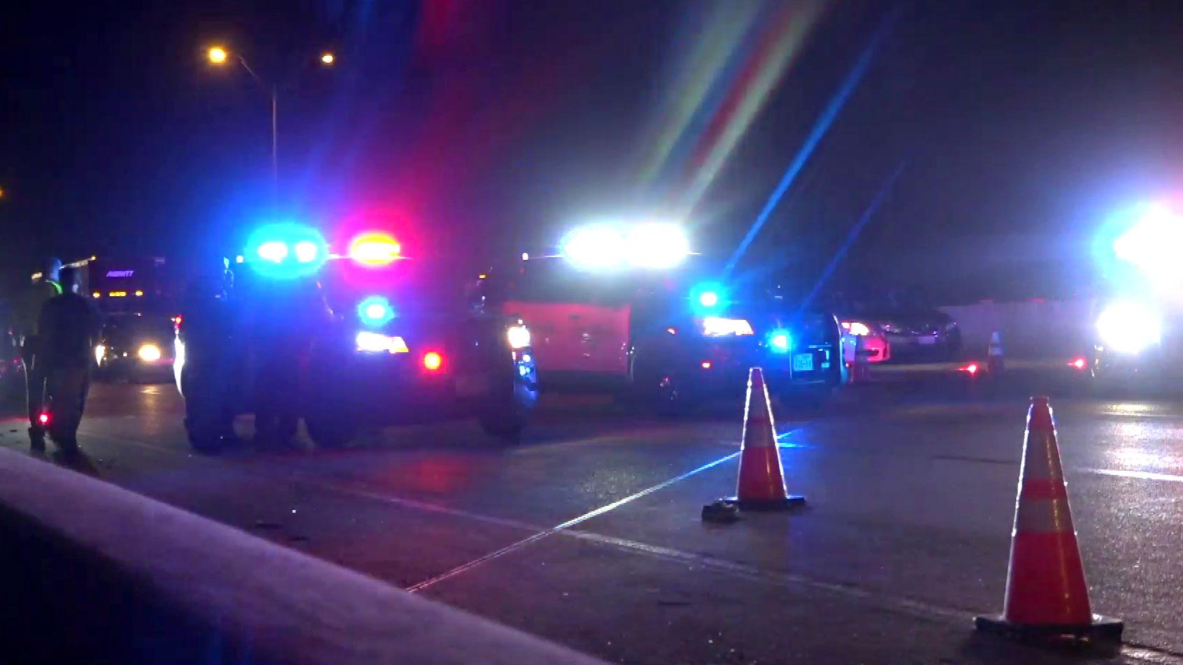 woman running from crash scene struckcar in fort worth - dallas
