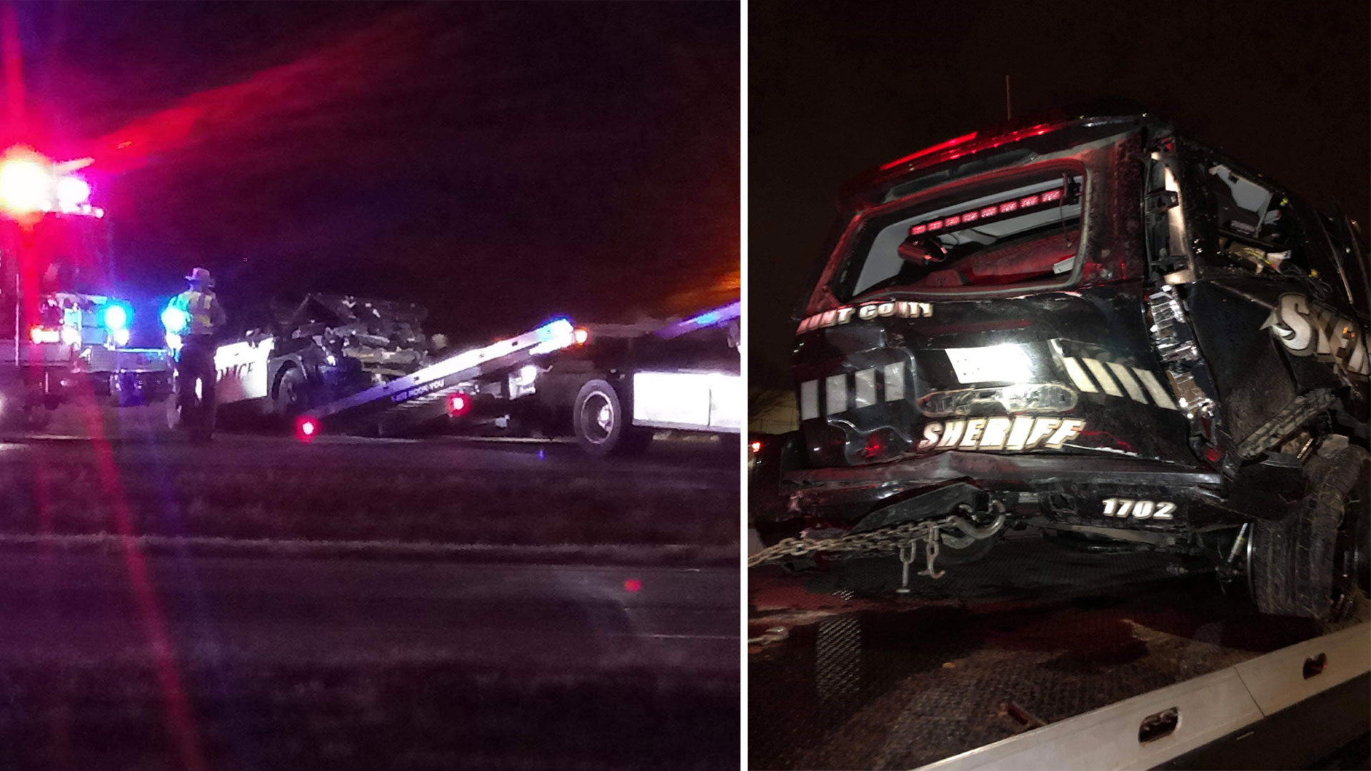 2 Squad Cars Collide During High Speed Chase in Hunt County