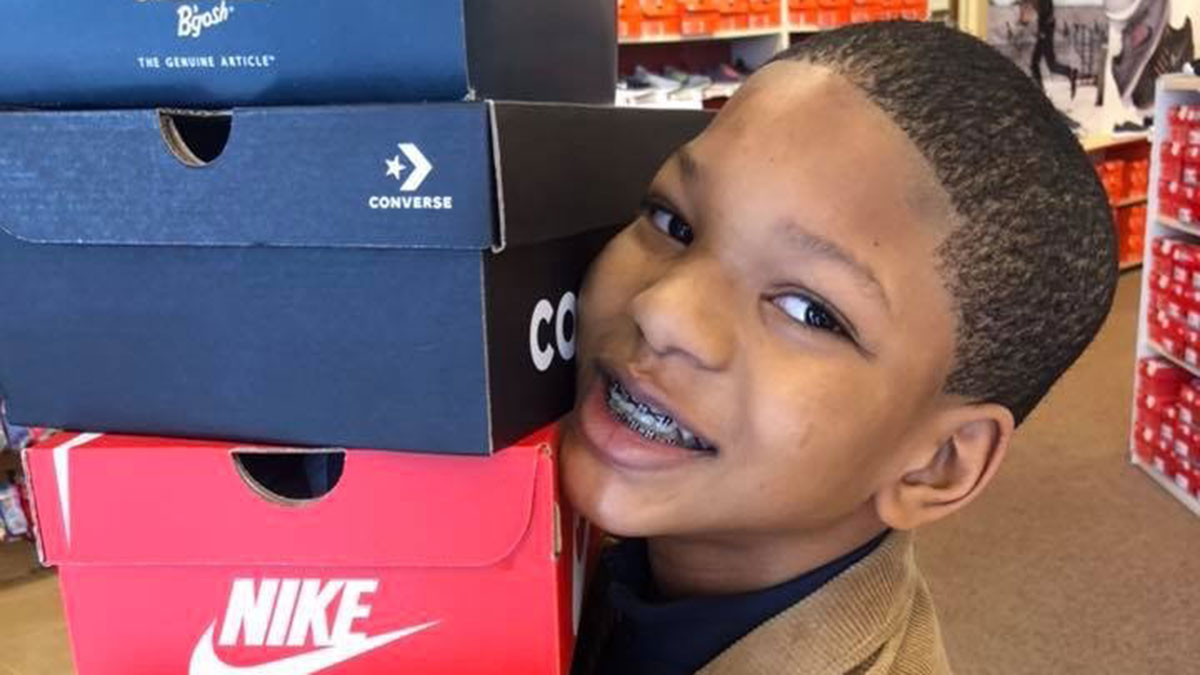 Boy's Christmas Wish is Shoes, Coats for Homeless Children