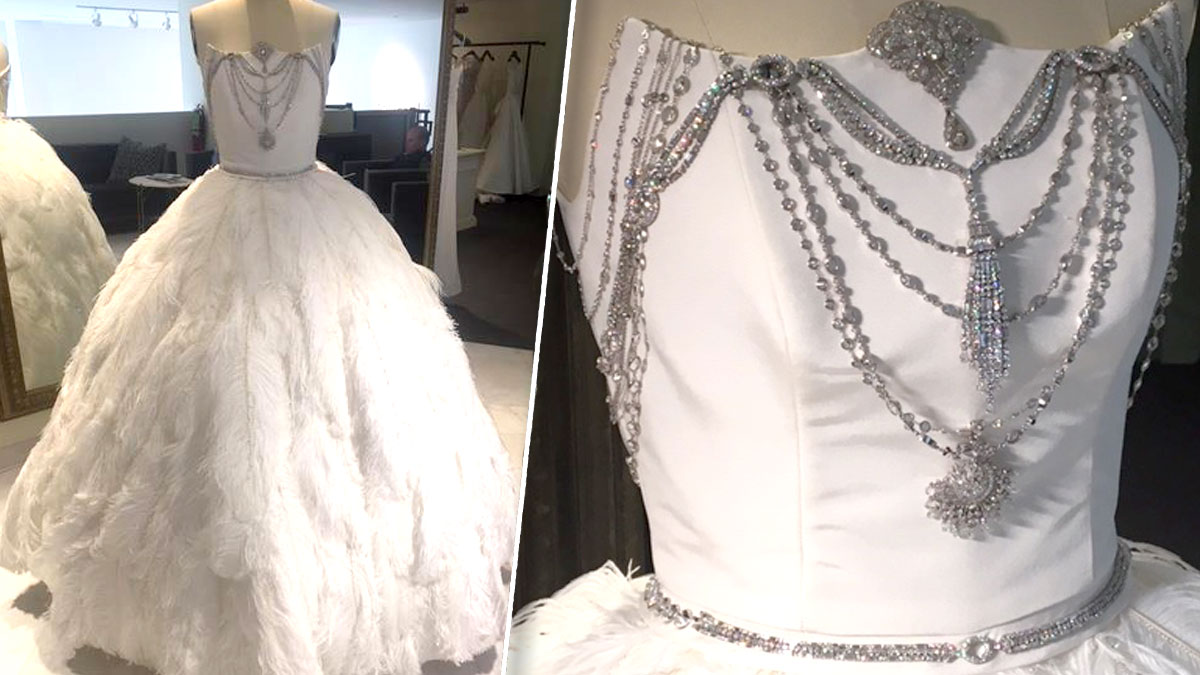 A 2 Million Wedding Dress Will Be On Display At The Dallas Bridal Show Starting Saturday And Sunday 10 Am Which Is One Stop Shop For All Things