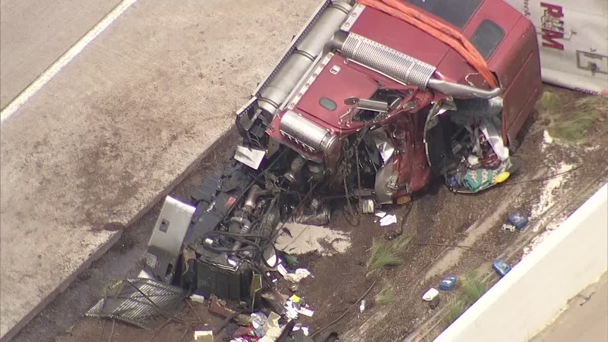 EB I-30 Reopens after Crash in Arlington